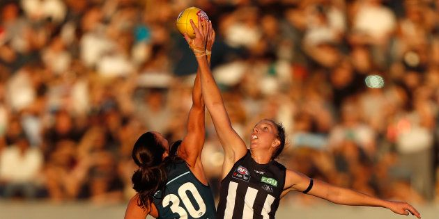 Gates Closed As Huge Crowd Watches Historic First AFL Women's Match