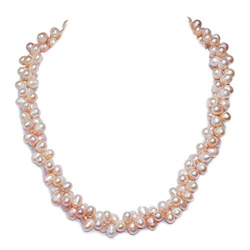 Fine Jewelry 4-11Mm Cultured Freshwater Pearl Sterling Silver Multi Strand Necklace TUpshQ2J8