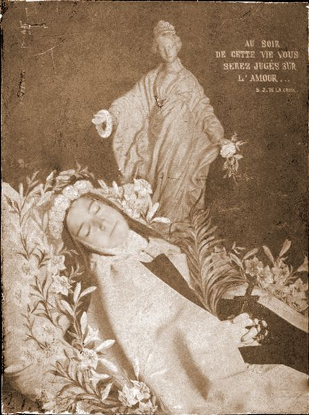 sainte-Therese-de-Lisieux on her deathbed