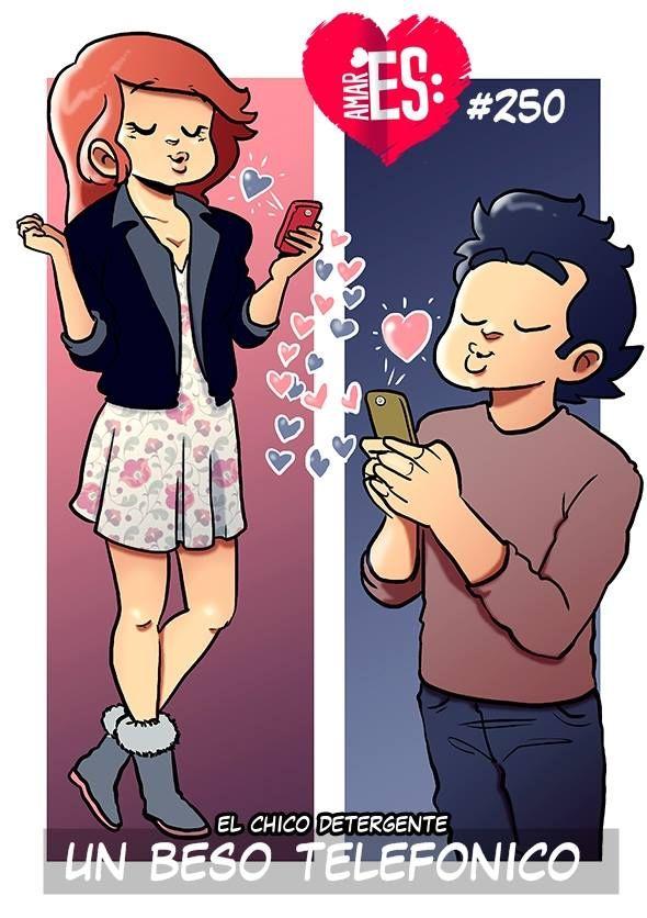 Un beso telefonico