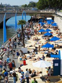 City Beach in Paris - La Plage Glazart  at 7/15 avenue Porte de la Villette La