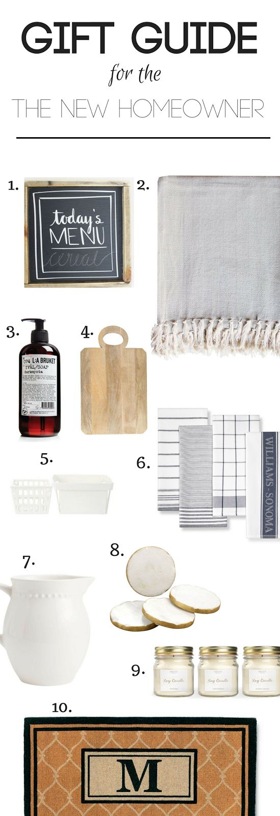 New homeowners are always so excited to receive gifts for their new home. The holiday season is a perfect time to give those gifts.    Gift Guide for the New Homeowner, Christmas Ultimate gift guide, gift list, gift guide, ultimate gift guide, adult gift guide, housewarming gift