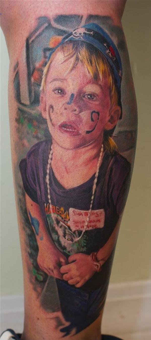 Baby portrait tattoo ideas - 70 Portrait Tattoos Done By Talented Artists