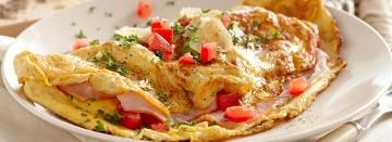 Ham, Cheese and Tomato Omelette