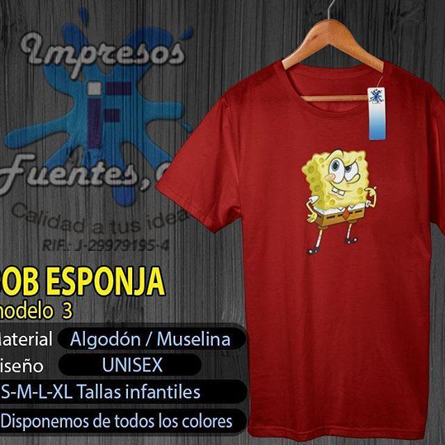 #bobesponja #franelas #personalizadas #diseños #colores #nick #megusta #detalles #regalos #vendemos #Valencia #Carabobo