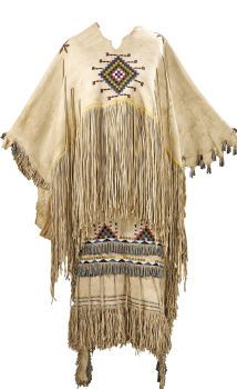 American Indian Art:Beadwork and Quillwork, AN APACHE GIRL'S PUBERTY DRESS. c. 1910... (Total: 2 Items)