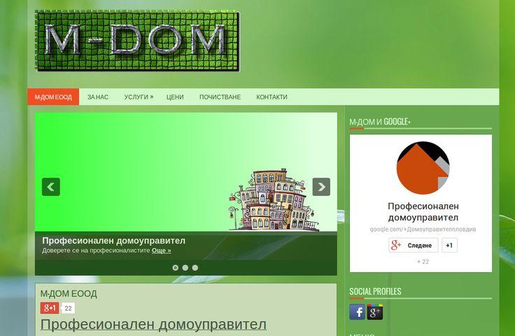 """Изработка на сайт за """"Професионален домоуправител"""""""