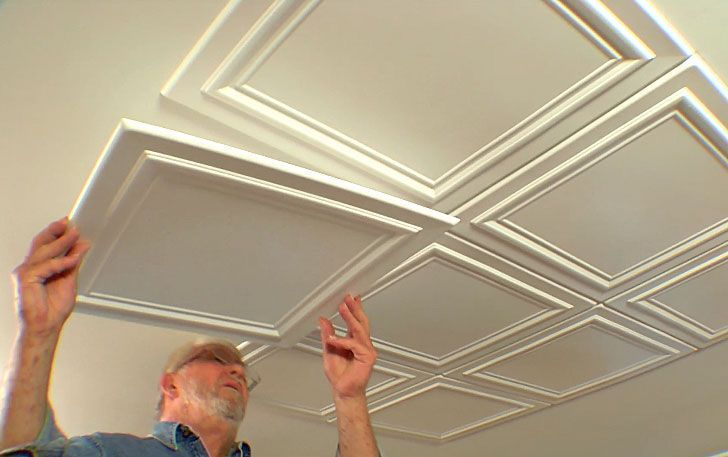 nice Salle à manger - Embossed Ceiling Tiles Add Elegance to a Room