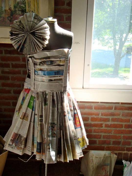 Cute newspaper dress