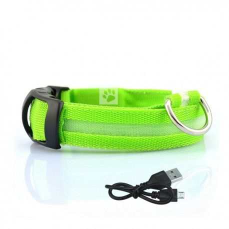 oplaadbare led halsband met verlichting groen
