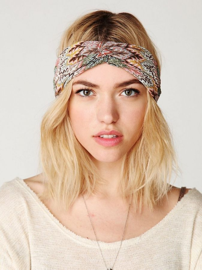 short hair with headband   Purchase these amazing hair accessories at Freepeople.com