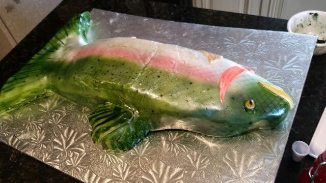 Trout cake.