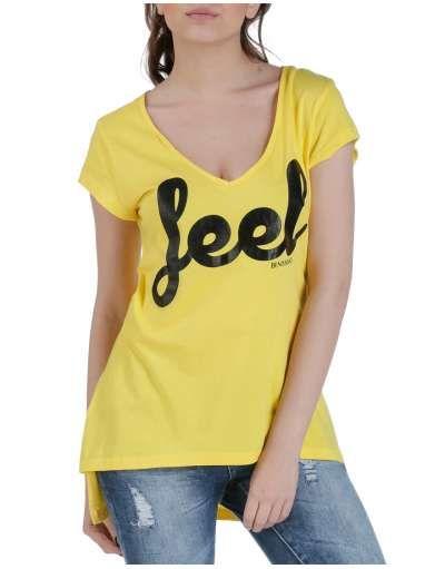 ΝΕΕΣ ΑΦΙΞΕΙΣ :: T-shirt Feel Asymmetrical Yellow - OEM