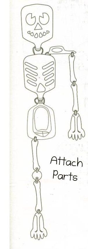 Revista Sobre Tudo: Decoração de Halloween - Esqueleto com material reciclável!