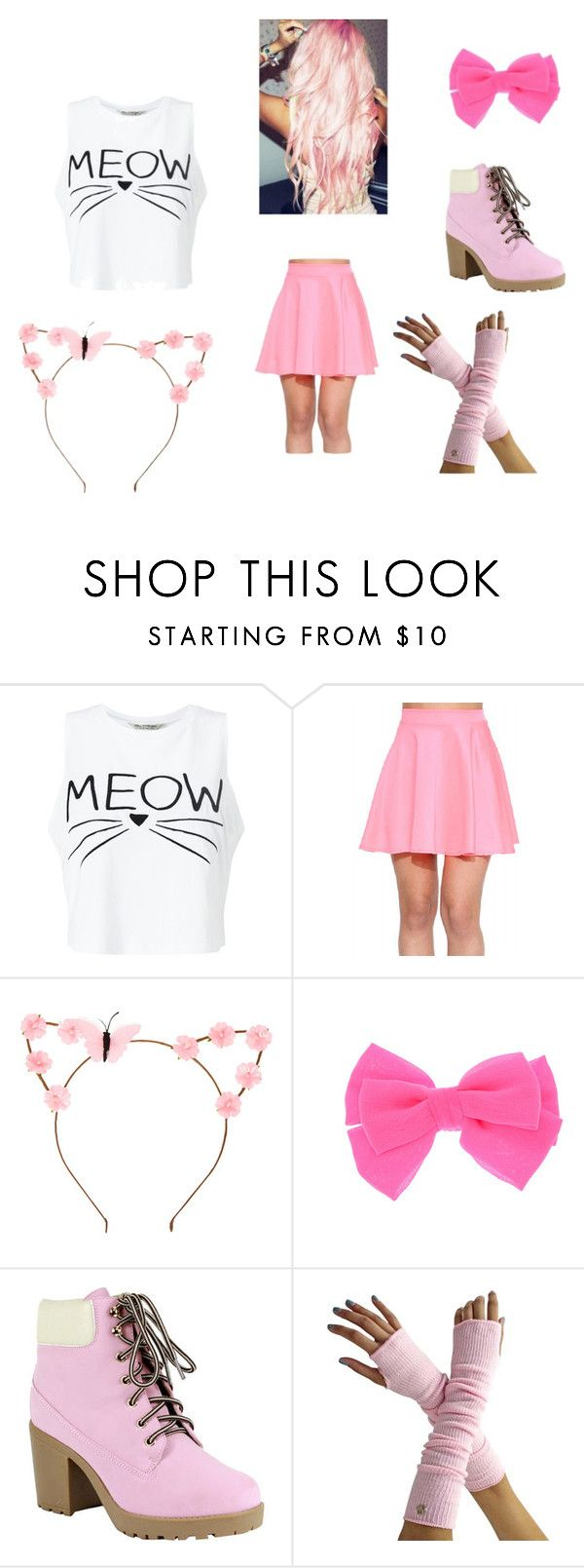 """""""Aphmau~ Kawaii~chan"""" by moekamomo ❤ liked on Polyvore featuring Miss Selfridge, claire's and Reneeze"""