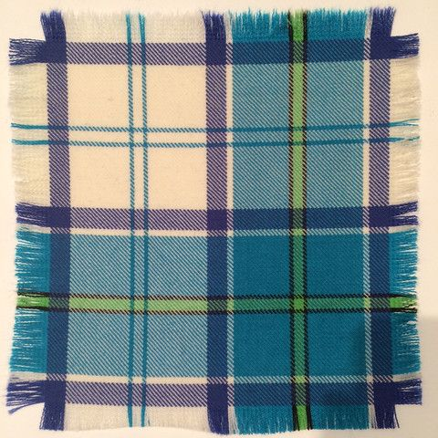 Turquoise Culloden - 100% Wool Tartan Fabric – Highland In Style