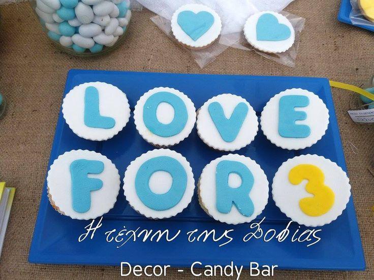 Candy Bar γάμου βάπτισης με θέμα παπάκι καρδιές.