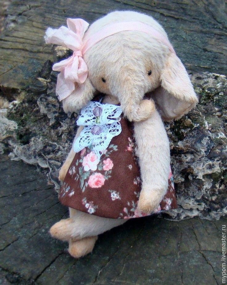 Купить Слоник-тедди ... - бежевый, слон, слоник-тедди, слоник, слоники, слоник игрушка