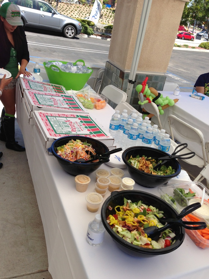 Its Time For Pizza And Salad During Your Super Kids Birthday Party Here