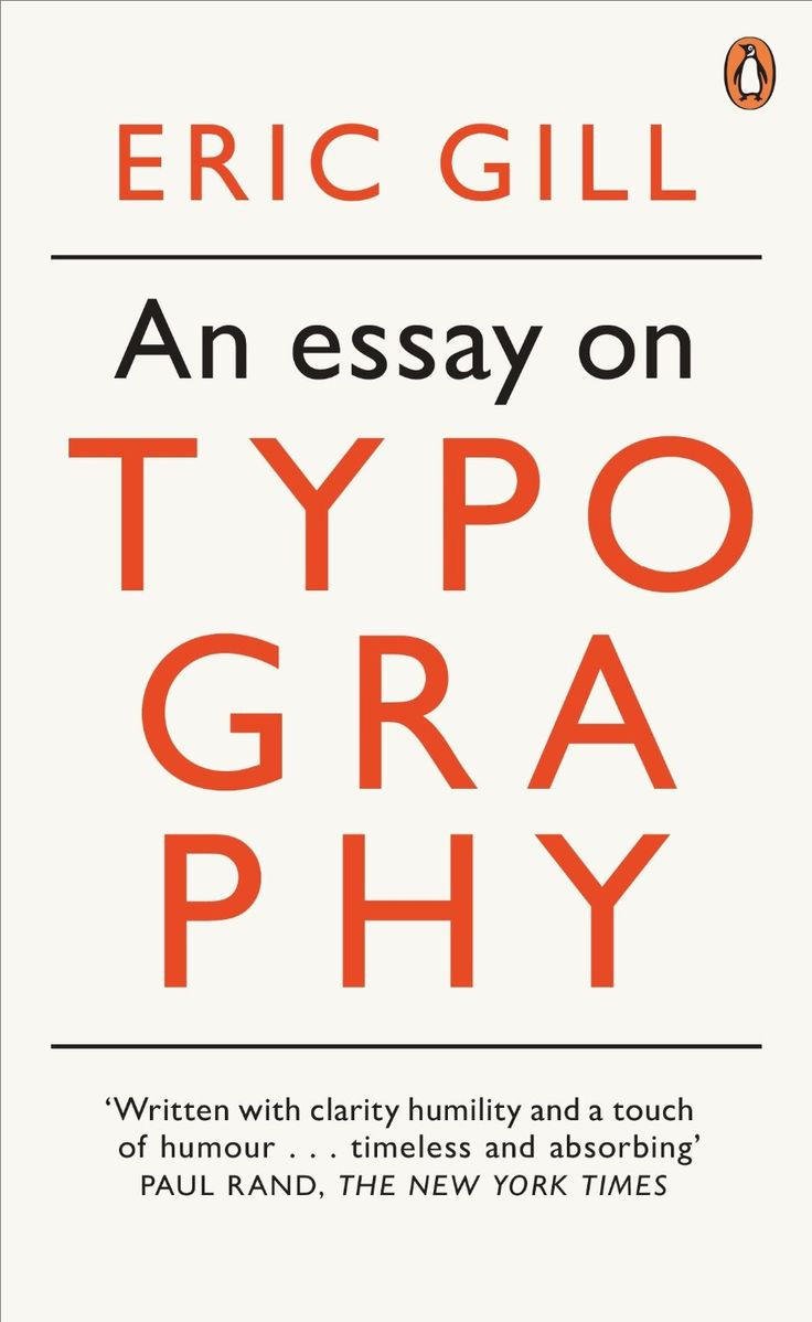 An Essay on Typography:  Eric Gill . Penguin on Design
