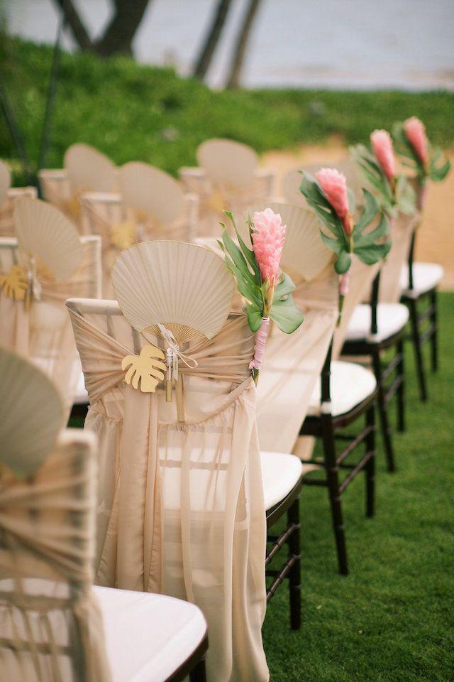 Hawaii Wedding Ceremony Chair Details