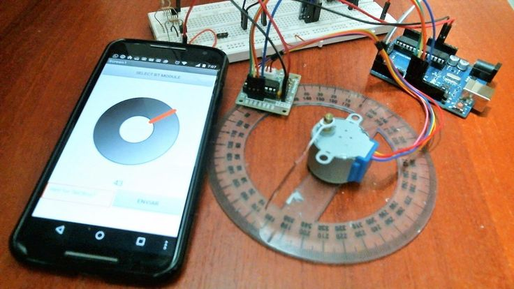 pequeña aplicación que les permite controlar un motor paso a paso 360 grados usando el famoso AppInventor.