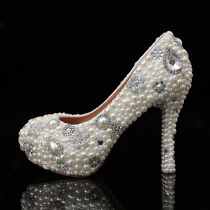Graduation party pompen mooie 4 inches bridal hoge hakken schoenen bruiloft bruidsmeisje schoenen strass party ivory avond schoenen(China (Mainland))