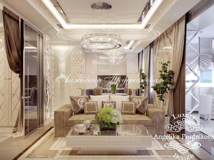 Дизайн интерьера маленькой квартиры в стиле Арт Деко на Мичуринском - фото
