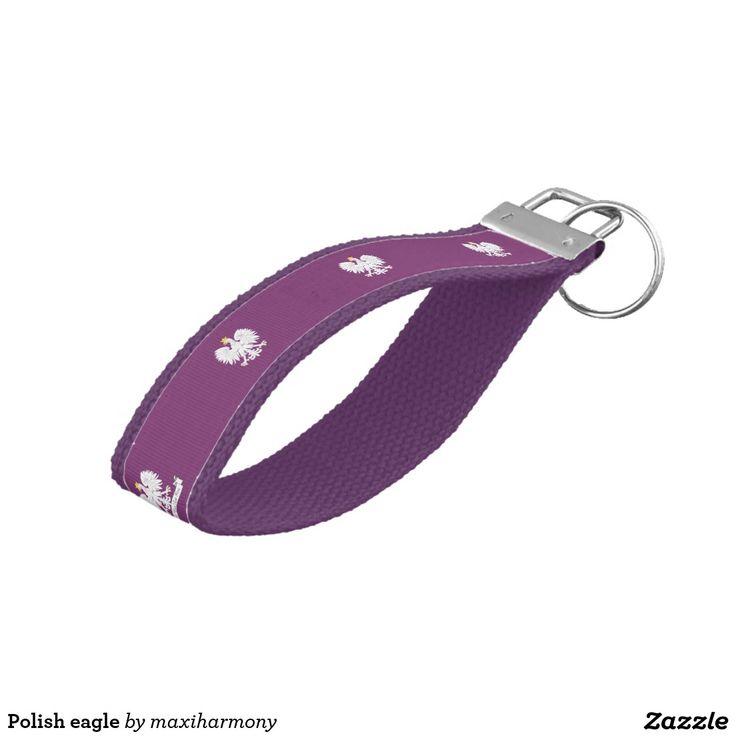 Polish eagle wrist keychain
