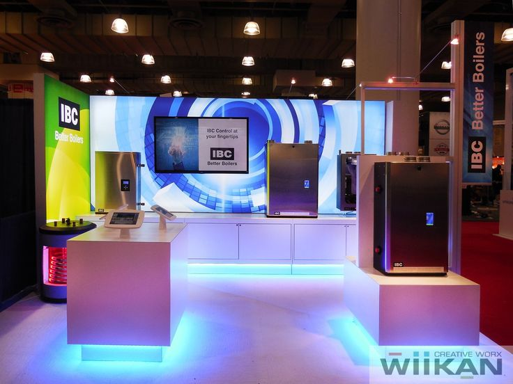 IBC  Boilers - Custom LED light-box scale-able trade-show booth