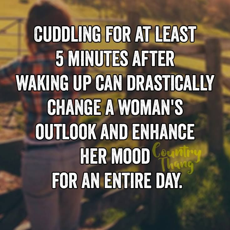 Cuddling for at least 5 minutes after waking up can drastically change a woman's…