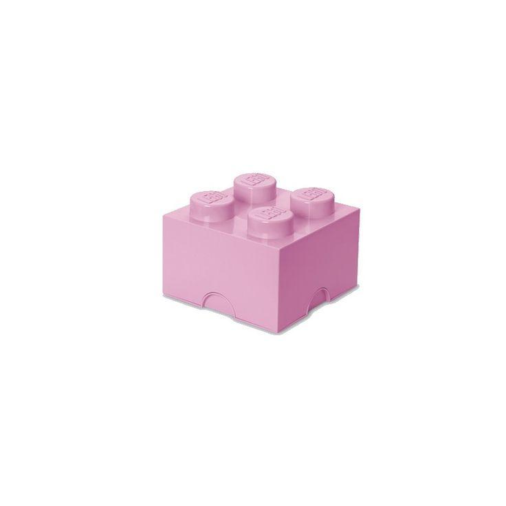 """lego opbevaringskasse - brick 4 - Super smarte og lækre opbevaringskasser fra Room Copenhagen.   Kan bruges både i børneværelset og i stuen.  Alle kasserne kan stables ovenpå hinanden, også store og små sammen.  Fås også i en større variant """"Lego opbevaringskasse - brick 8"""""""