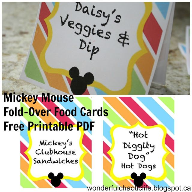 Mickey Mouse Birthday Party FREE PRINTABLES