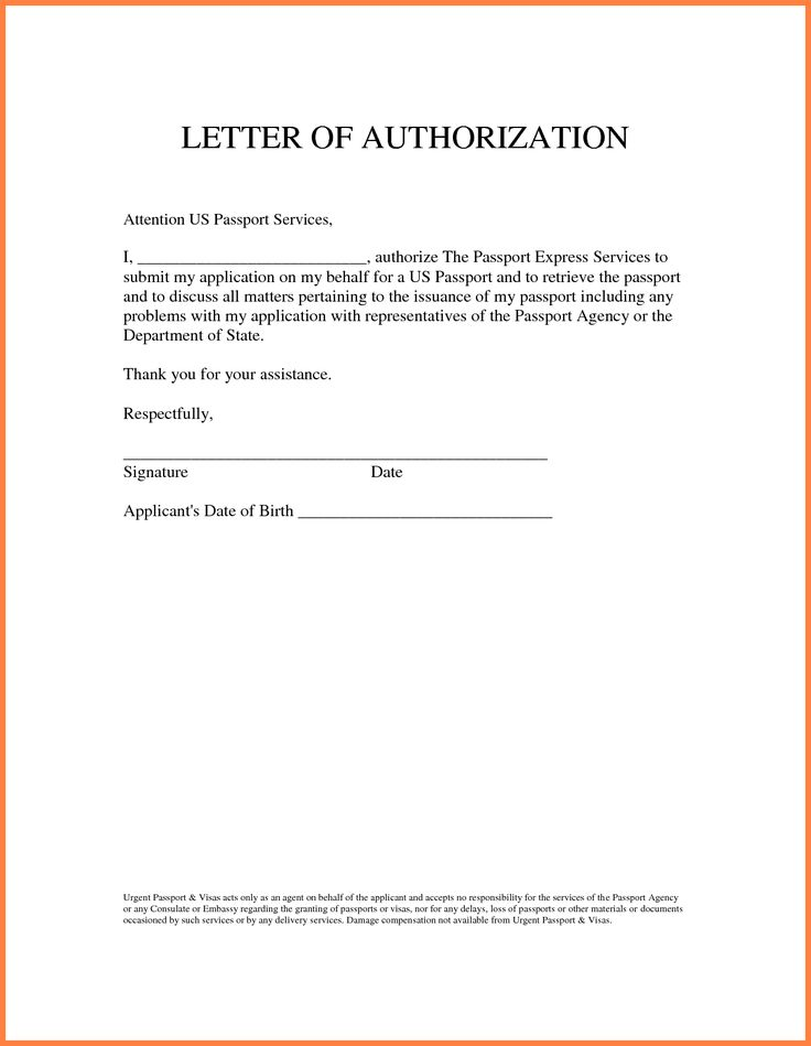 Sample Authorization Letter Granting Permissionthorization For