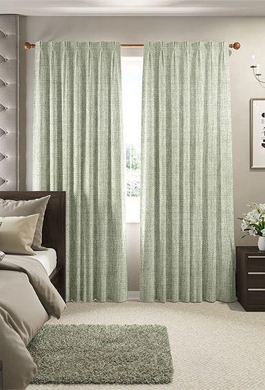 Eternity Linen Khaki Curtains