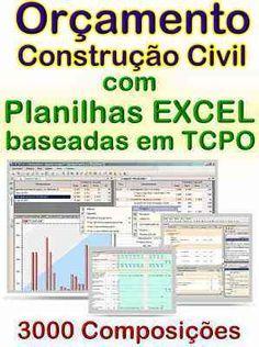 #Orçamento de #Construção Civil c/ Planilhas EXCEL e TCPO #mpsnet #conhecimento www.mpsnet.net Ferramentas que lhe possibilitam fazer o orçamento muito rapidamente, com resultados ao preencher as planilhas, vem com banco de composições. Veja em detalhes neste site http://www.mpsnet.net/loja/index.asp?loja=1&link=VerProduto&Produto=531