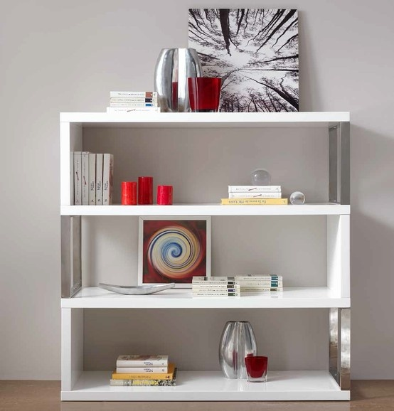 17 best images about muebles de salon modernos on pinterest colors blanco y negro and chang 39 e 3 - Estanteria blanca lacada ...