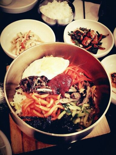 Cold bibimbap at a local restaurant