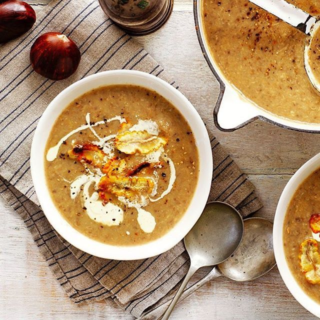 It's sweet, nutty with a hint of umami #mushroom flavour. This Chestnut & Mushroom Soup is sooo good. Perfect for lunch or dinner. It maybe both. Recipe on the previous post.  #aussiechestnuts #chestnuts #soup #homemade #wholesome #food52 #instafoodie #freshcooking
