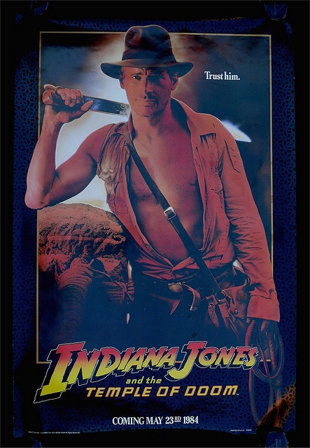 Indiana Jones and the Temple Of Doom advance movie poster Hello there :) Repin your favorite free movies to watch later Thanks :) http://pinterest.com/antonpictures/watch-full-movies-for-free/