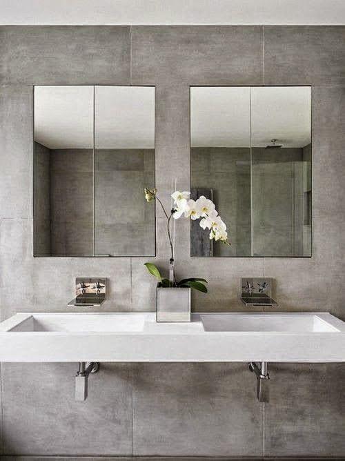 20 ideas de decoración para baños modernos pequeños 2015