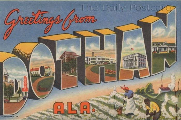 Greetings From Dothan Postcard