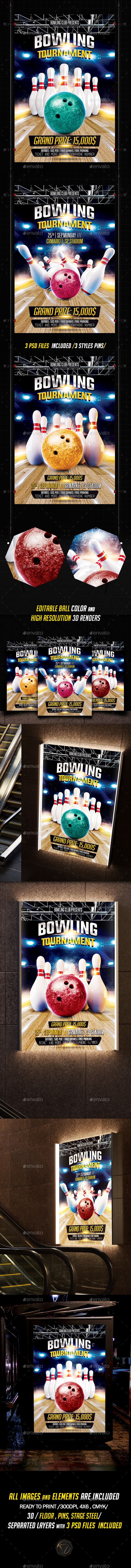 11 best Sports Flyers Posters Web images – Bowling Flyer Template