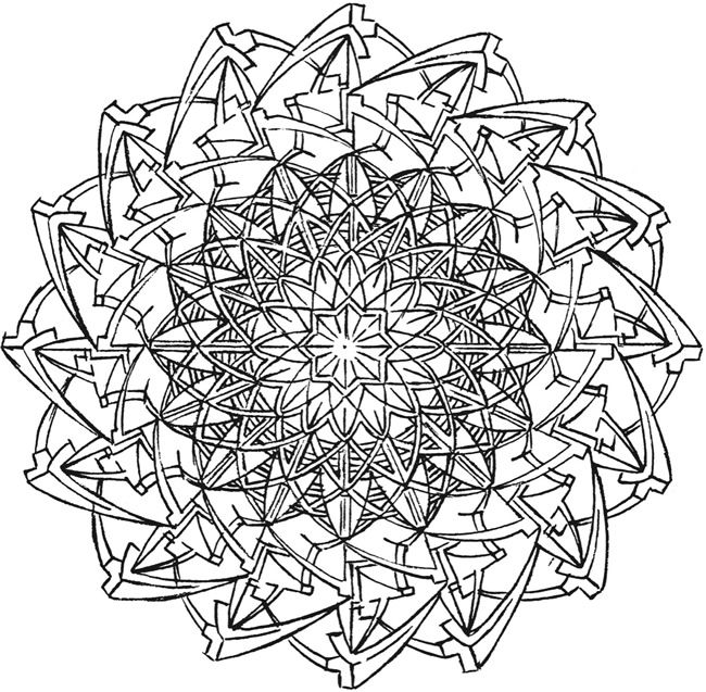kaleidoscope designs free coloring pages - photo #15