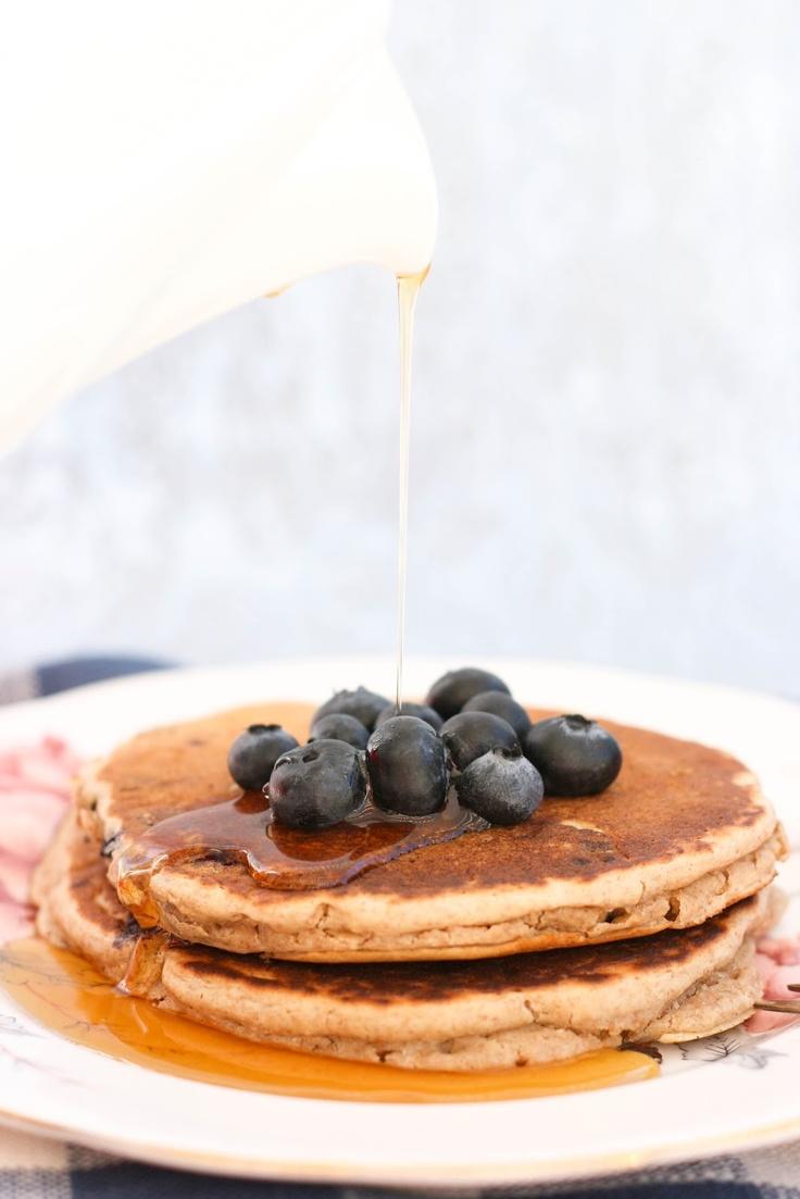 Blueberry Multigrain Pancakes | What's for Breakfast?! | Pinterest