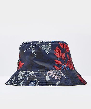 This French Navy Fay Floral Rainy Day Waterproof Hat - Women is perfect! #zulilyfinds