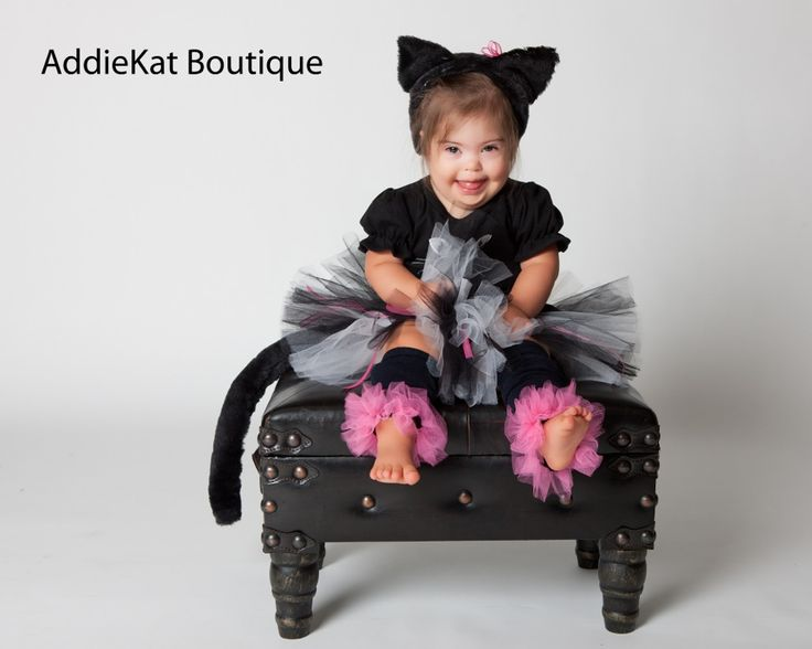 black kitty cat halloween costume boutique tutu costume complete with leg warmers ears and tail - Scary Cat Halloween Costume