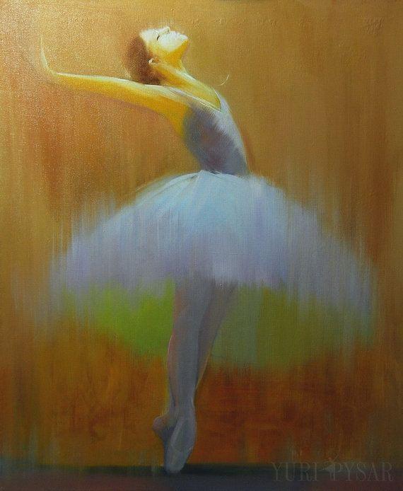Brun toile art art de danseuse de ballet imprimé par Pysar sur Etsy