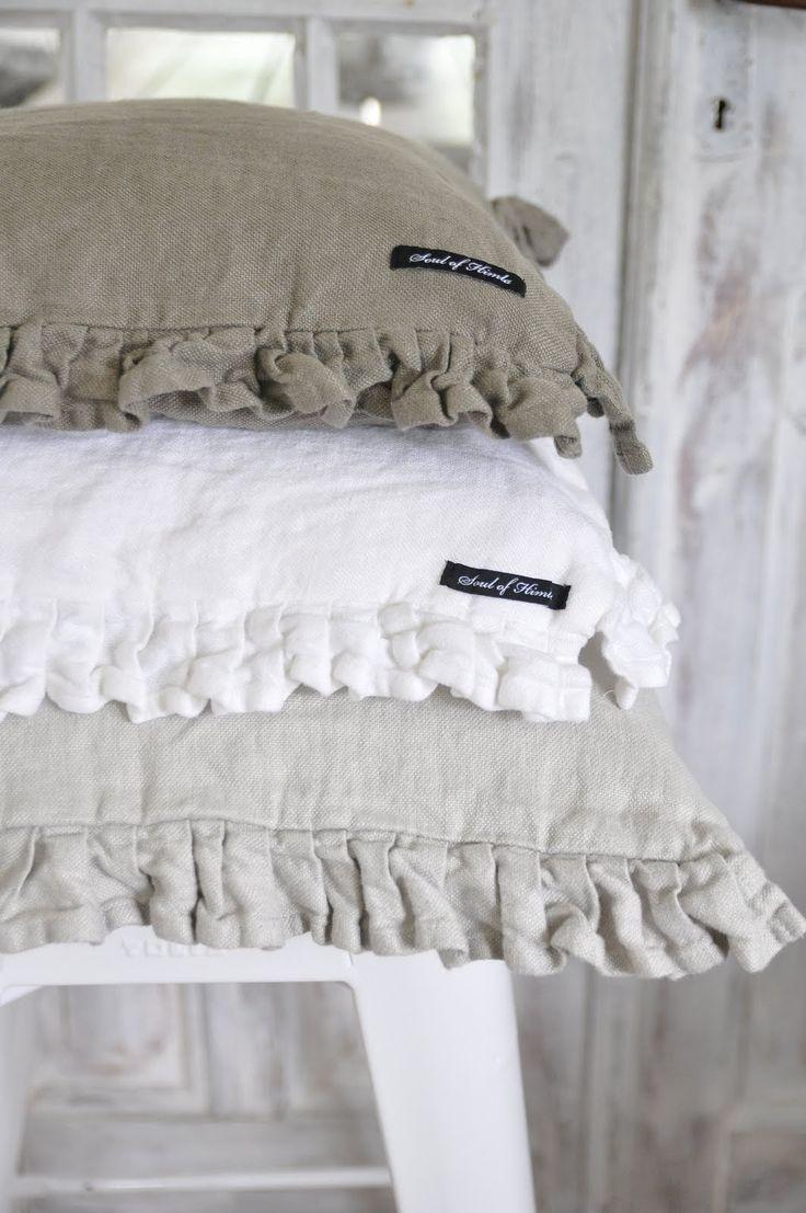 linen pillows...sweet!
