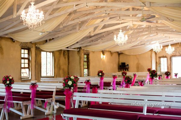 Our chapel with chandeliers hanging :)